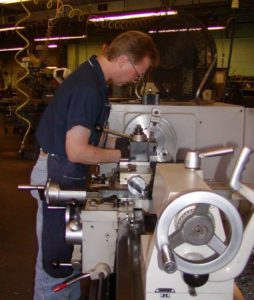 Nu-Tec Tooling machinist working